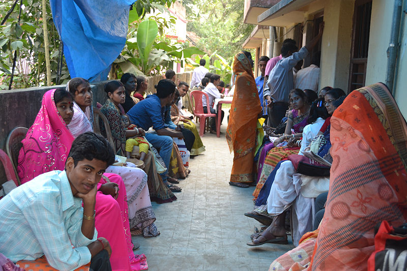 Queue of patients in Rural Clinic