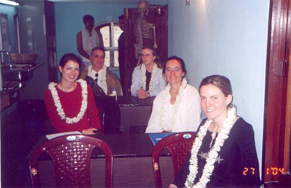 The Student group on the course in Calcutta January 2004