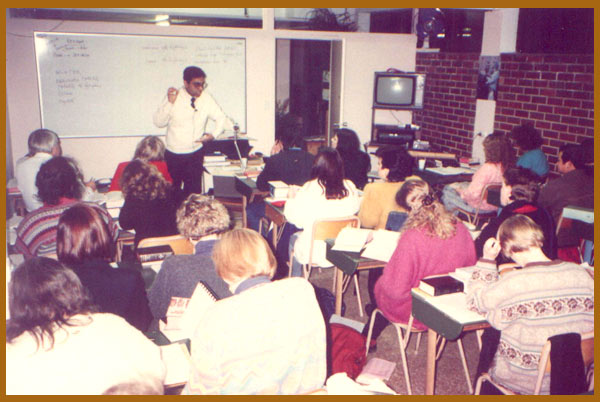 Lecturing at Adelaide, Australia 1996