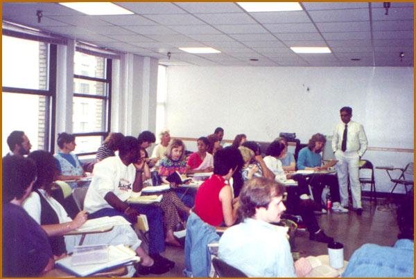 Lecturing in Los Angelos, U.S.A.,1992