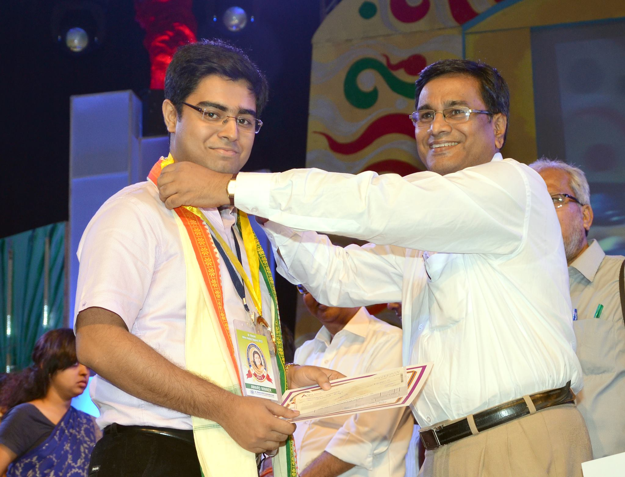 Dr.Saptarshi being felicitated by the M.Allen Memorial Trust for 1st position in the University of H
