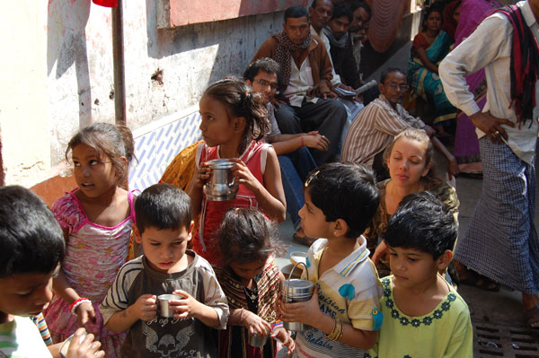 Milk provided for the children.