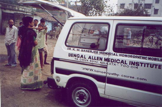 The Mobile Van, which serves four different slum areas of calcutta