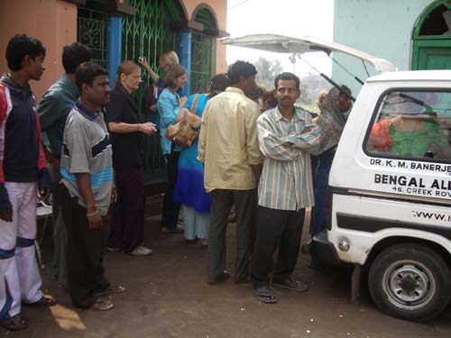 Bengal Allen's Mobile Medical Unit: Distributing Milk & Medicines.