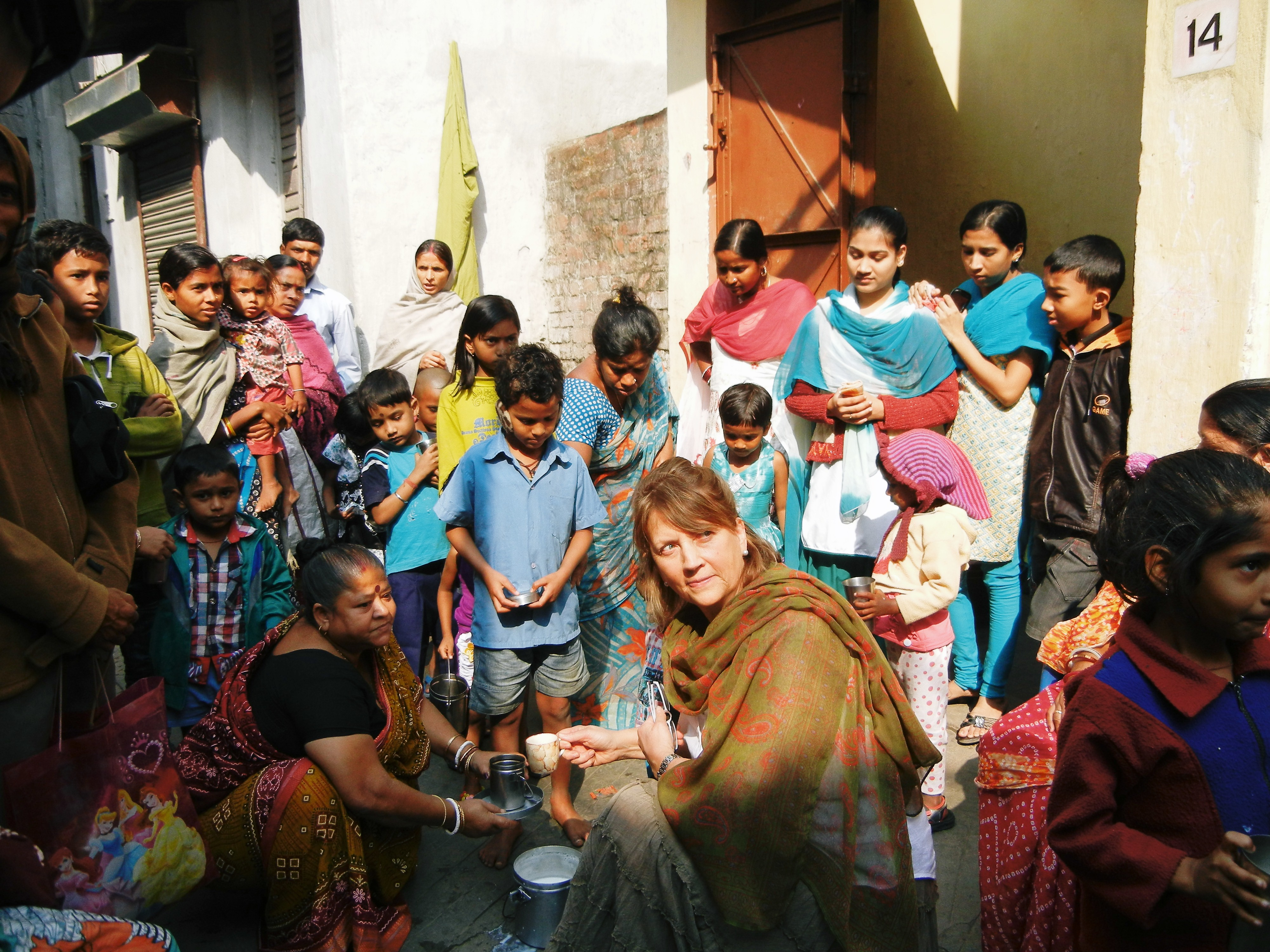 Milk distribution in the slum
