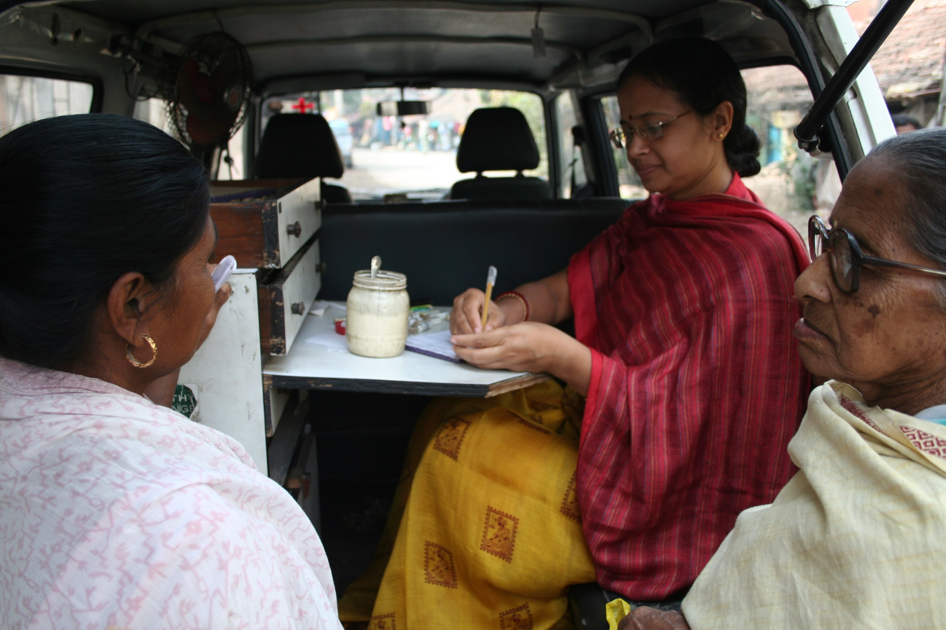 Prescribing from Mobile Medical Van