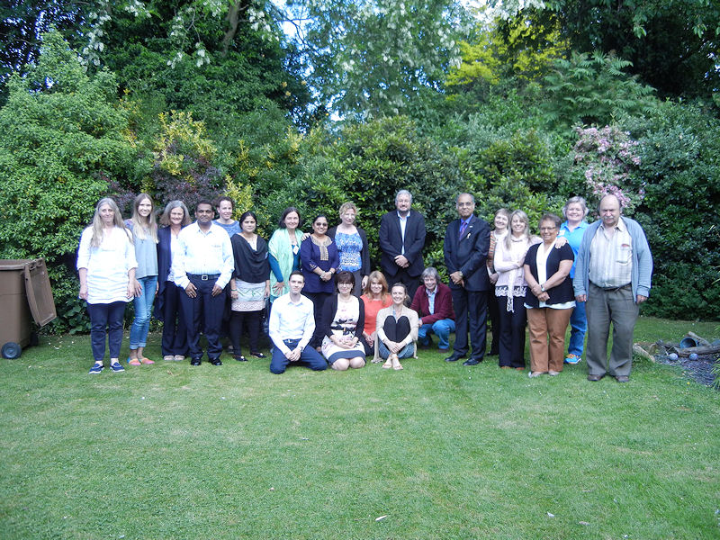 Summer Conference 2015 group in ACH garden.