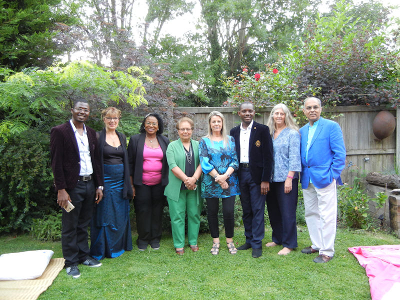Nigerian participants with Beth, Donna, Janet & Subrata